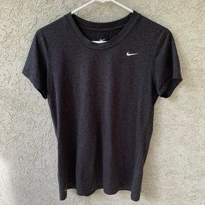 Nike Short Sleeve Top Gray Women's Medium